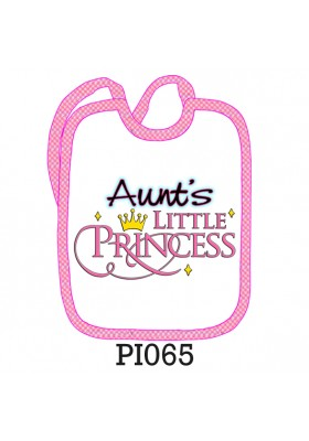 "Bavaglino ""Little princess aunt's"""