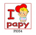 """Baby T-shirt """"I cuore papy"""